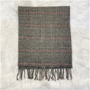 Urban Outfitters Plaid Scarf Fringe